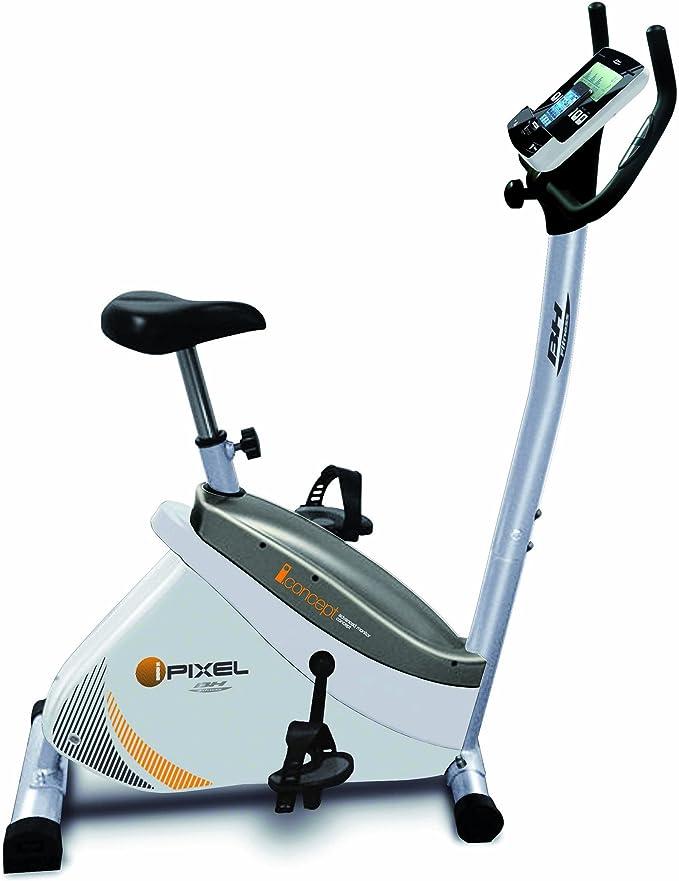 BH Fitness i.Pixel - Bicicleta estática, Color Blanco: Amazon.es: Deportes y aire libre