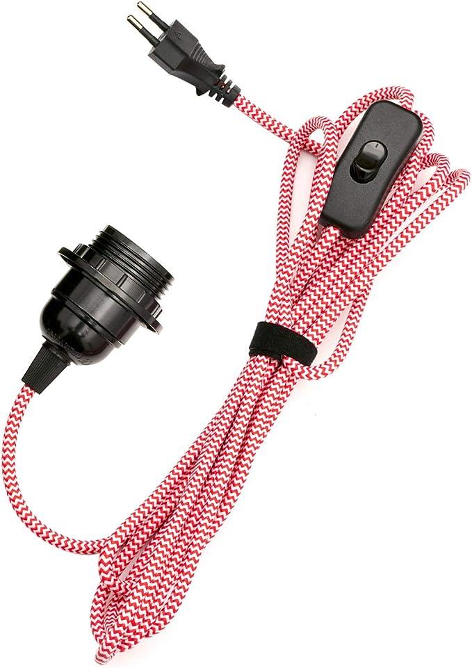 250V 10A E27 Lampenfassung 3M Netzkabel Ein Aus Schalter AB