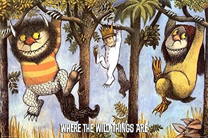 Where The Wild Things Are Dictionary Art Print Poster Picture Maurice Sendak