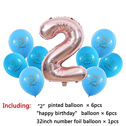 1 2 3 4 5 6 7 8 9 Years Old Happy Birthday Balloon Kids 1st