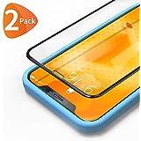 Bewahly Vetro Temperato iPhone XS Max [2 Pezzi], 3D Copertura Completa 9H Durezza Pellicola Protettiva in Vetro Temperato con Kit di Installazione per iPhone XS Max (6,5 Pollici) Nero