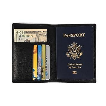 Porta pasaporte / funda de Nomalite | Organizador de documentos de viaje hombre y mujer con protección RFID, cartera ...