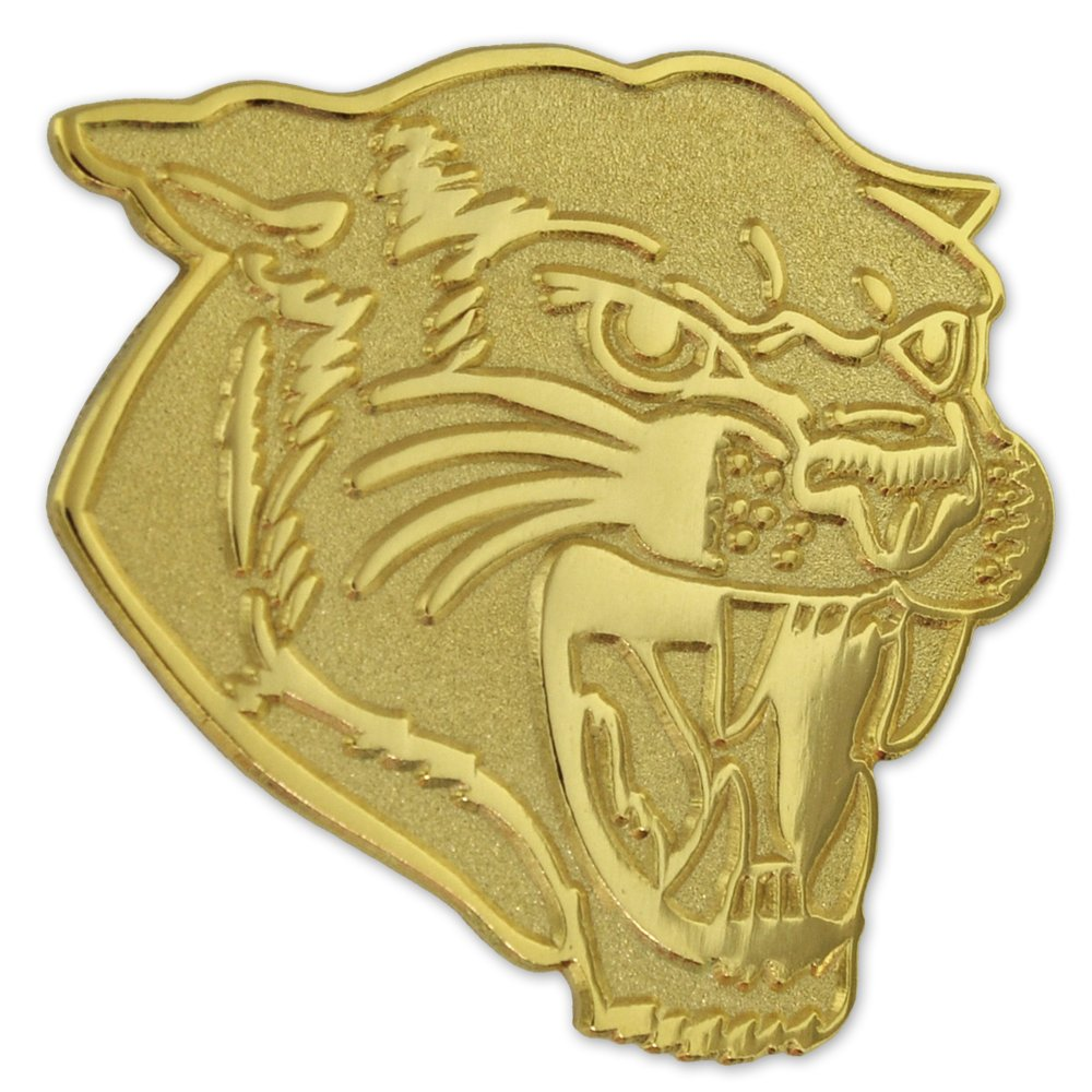 PinMart's Gold Chenille COUGARS Mascot Letterman's Jacket Lapel Pin 1'' by PinMart