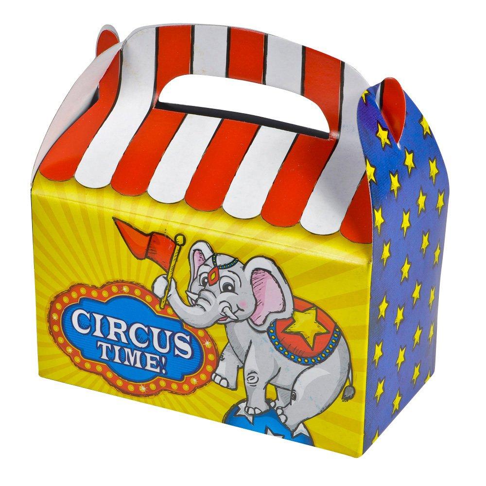 """1 Dozen 6.25"""" Circus Treat Boxes"""