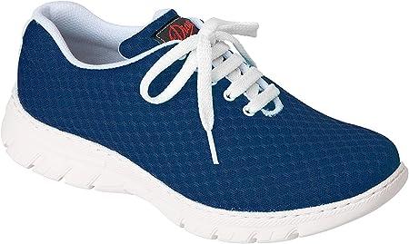Zapatilla Tipo Blucher Unisex de la Marca DIAN, en Microfibra Color Azul - calpe-56