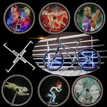 evermate sistema de pantalla de luz para rueda de bicicleta ...