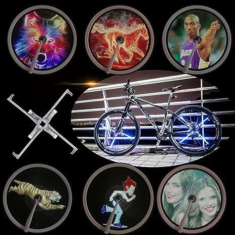 evermate sistema de pantalla de luz para rueda de bicicleta programable, DIY 416 Pcs Reflectores