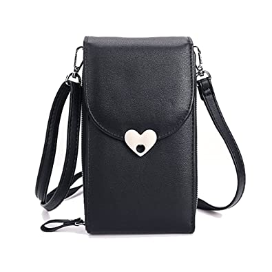 0e0b751a3d36 Wallet For Women Cellphone Pouch Leather Shoulder Bags Messenger Bag,  Ladies Small Cross Body Bag Mini Zipper Pockets With Adjustable Strap  Credit ...