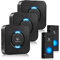 Wireless Doorbell, ELEPOWSTAR Door Bells & Chimes Kit with 1000ft Long Range, Waterproof Doorbell Chime with 5 Volume…
