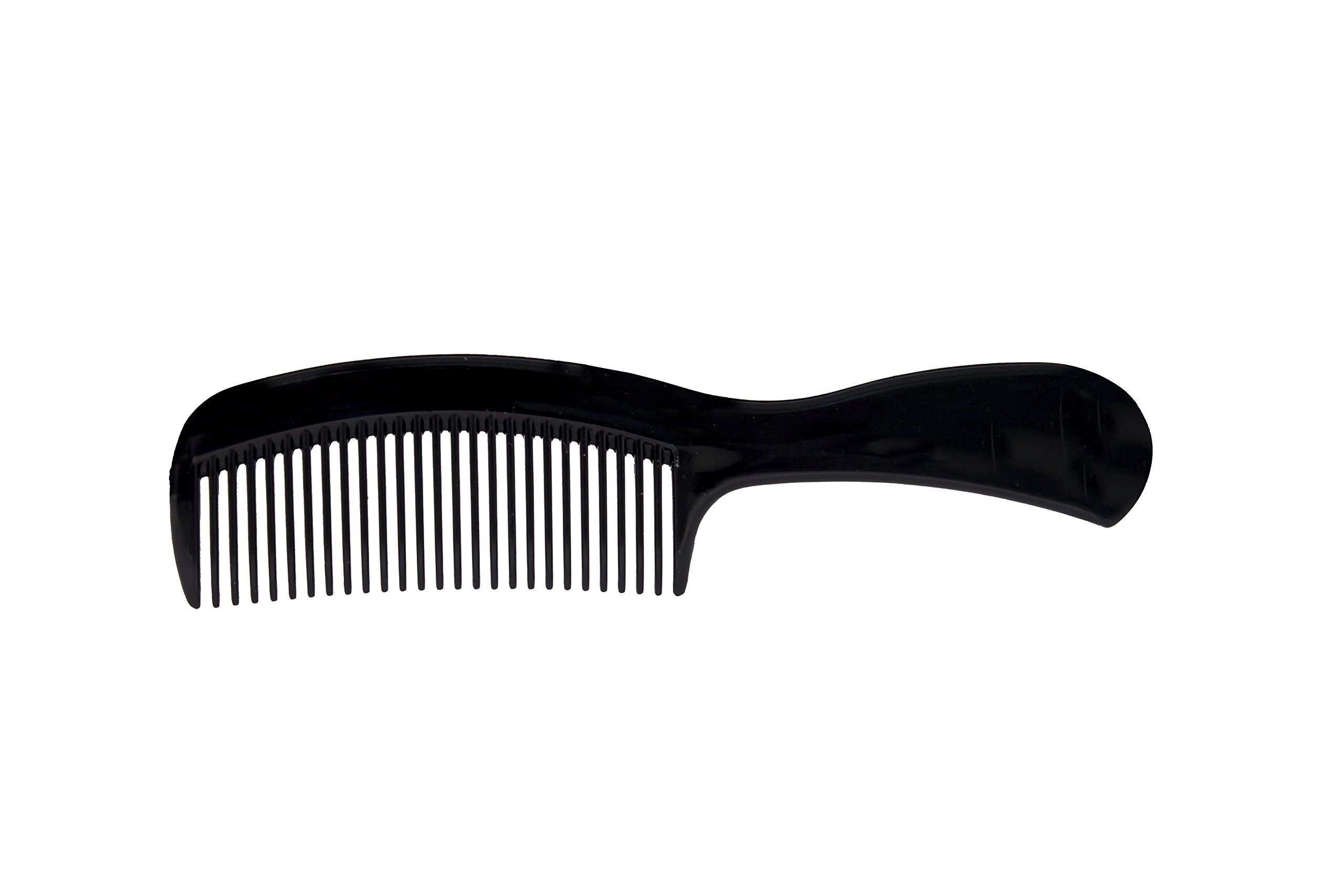 Dukal 2655 Dawn Mist Adult Comb, Long Handle, 6.5'' Long, Black (Pack of 720)