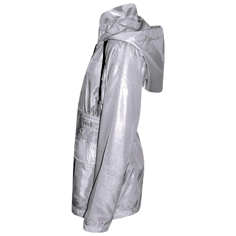 A2Z 4 Kids/® Kids Girls Boys Raincoats Jackets Designers Grey Light Weight Waterproof Kagool Hooded Cagoule Rain Mac Coats New Age 5 6 7 8 9 10 11 12 13 Years