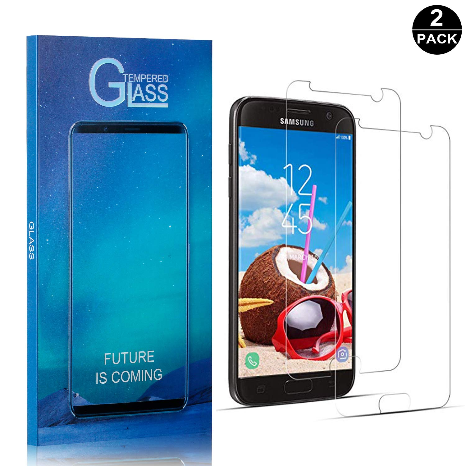 UNEXTATI Premium Scratch Resistant HD Clear Tempered Glass Film for Samsung Galaxy S10e Tempered Glass Screen Protector Compatible with Galaxy S10e 3 Pack