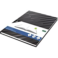 Kangaro K-5584 Schetsboek A4 blanco hardcover 80 vellen 140 g zwart design, 29,4 x 21,3 x 1,4