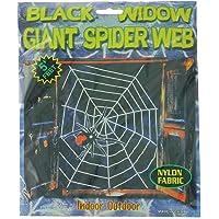 Partyforte Halloween LH-13W 5ft Spider Net, White
