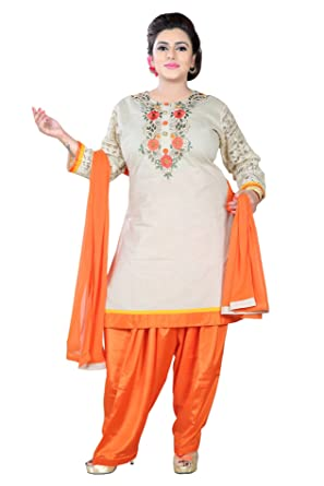 Indian Plus Size Readymade Suits For Women Ladies Patiala Salwar