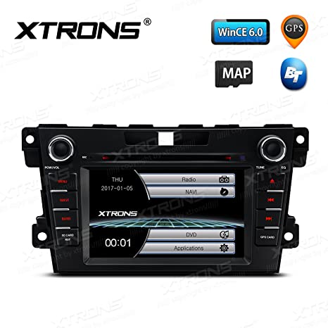 XTRONS 7 Inch HD Digital Touch Screen Car Stereo in-Dash DVD Player GPS  Navigation Dual Channel CANbus Screen Mirroring Function for Mazda CX-7 &  Map