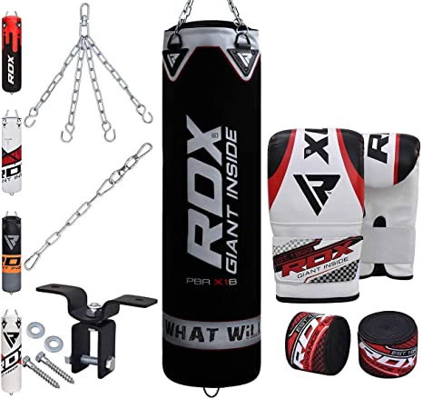 Leather Speed Ball Single ended Boxing Punch Bag Gym Training Martial Arts kick