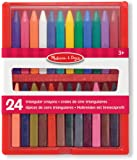 Melissa & Doug Triangular Crayons - 24-Pack in Flip-Top Case, Non-Roll