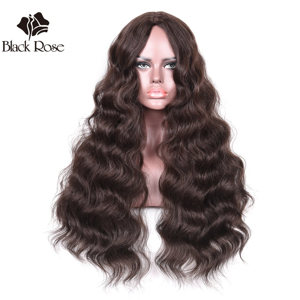 Black Rose Lace Front Synthetic Wigs Hand Tied L-Part Long Curly Wavy Hair Wig Body Wave Heat Resistant Fibers 20inch 613#Light Blonde Synthetic Wig for Women Ltd.