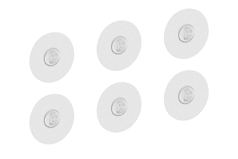 Ohne Kleben /& Bohren // Wandhaken f/ür K/üche /& Badezimmer // Dekohaken // Fensterhaken // 214717 transparent Zur Befestigung auf allen glatten Oberfl/ächen Metafranc Hafthaken /Ø 68 mm 1 St/ück