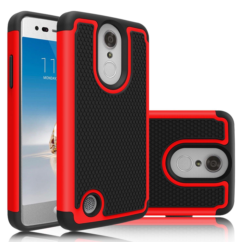 LG K4 2017 (LG-M151) Case, Skypillar Canada, Rugged Impact (Heavy Duty) Hybrid Dual Layer Shock Proof Hard Skin Cover - Defender Turquoise