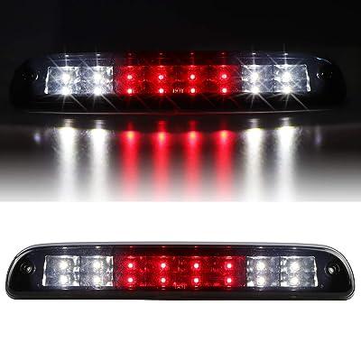 Sanzitop LED 3rd Brake Light Cargo lamp Fit for 99-16 Ford F-250 SD F-350 SD F-450 SD F-550 SD, 93-11 Ford Ranger, 95-03 Mazda B2300 B400, 01-05 Ford Explorer Sport Trac (Black Housing Smoke Lens): Automotive