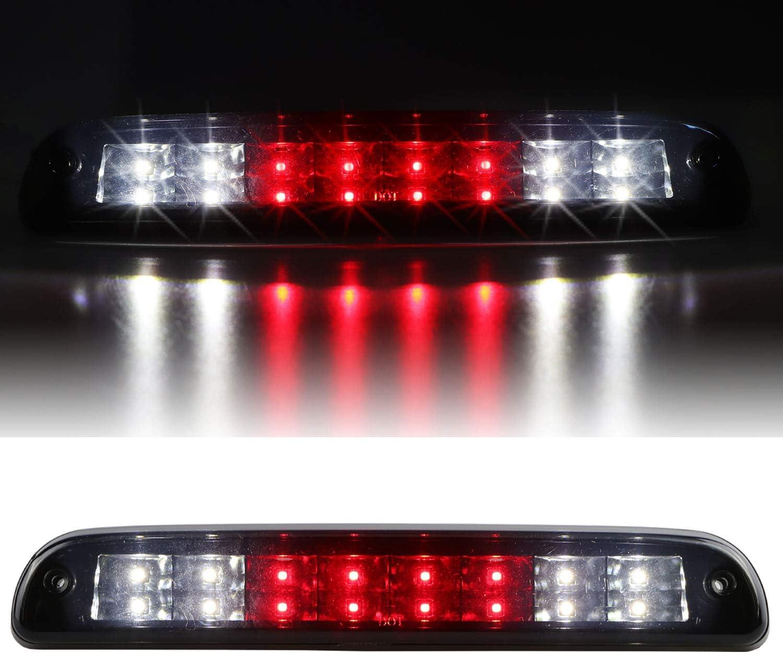 1999-2016 F250 F350 F450 F550 Ford Super Duty Chrome Housing Red Lens 2001-2005 Ford Explorer Sanzitop LED Third Brake Light Assembly Cargo Lamp for 1993-2011 Ford Ranger
