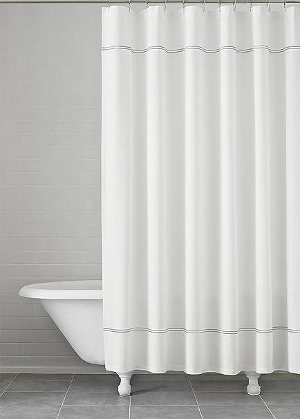 Amazon Carrara Embroidered Shower Curtain 72 X Kassatex 100 Cotton