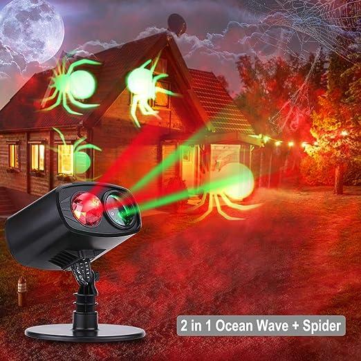 Luces de Proyección Navidad Proyector de la Navidad LED Iluminación de Paisaje IP65 Impermeable Lámpara Luz Efecto Movimiento para el día de Acción de ...