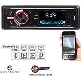 Creasono Digitalautoradio: MP3-Autoradio mit DAB+, Bluetooth, Freisprecher, USB & SD, 4X 50 Watt (DAB Autoradios mit MP3, Bluetooth)