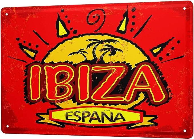 LEotiE SINCE 2004 Cartel Letrero de Chapa Pared Aventurero Ibiza España: Amazon.es: Hogar