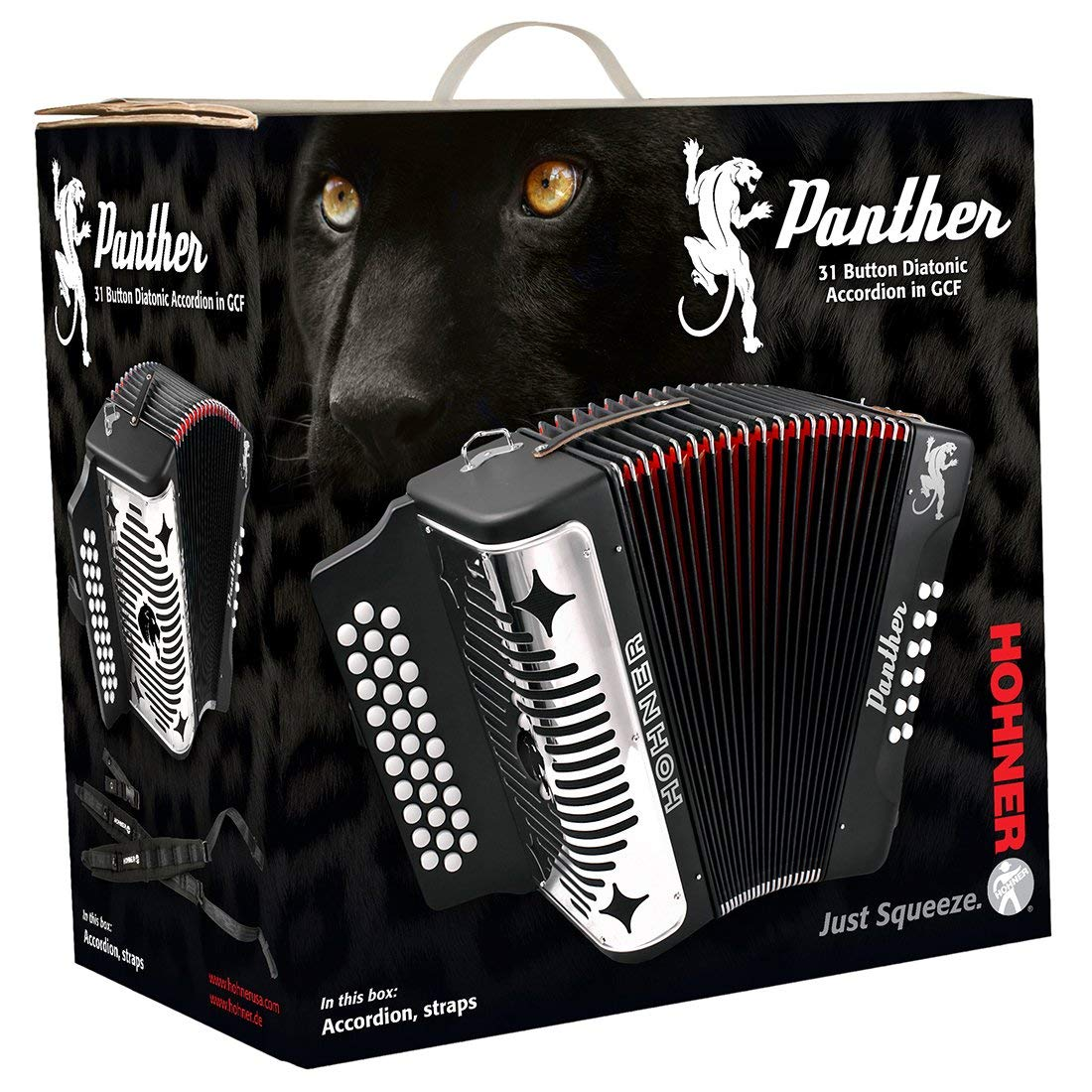 Hohner Panther 3100FB Diatonic Accordion Comprehensive Starter Kit with Gig Bag, Instruction Book and Cleaning Cloth by Hohner Accordions (Image #4)