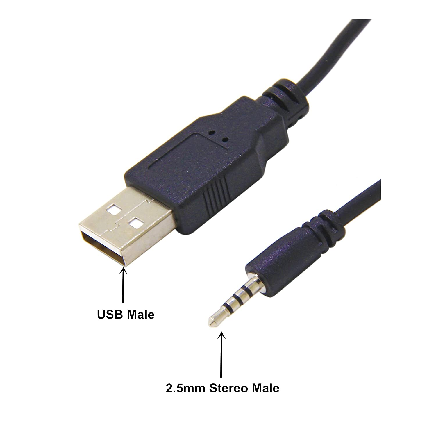 USB to 2.5mm Male, Ancable Headphone Charger Cable for JBL Synchros E30 E40BT E45BT E50BT EB40 S400BT S400 S500 S700 J56BT Wireless Headphones ...