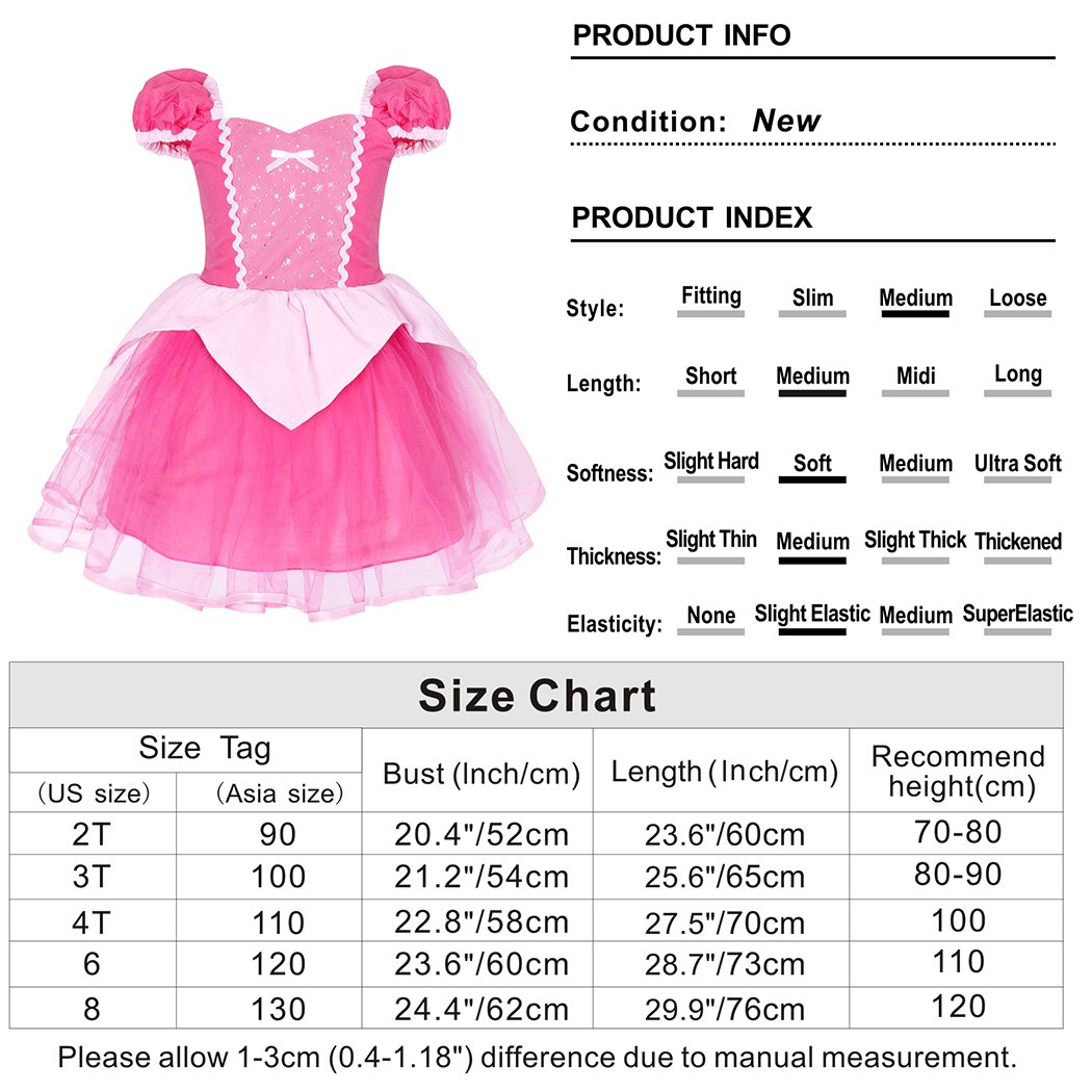 5b163a814ed3 Cotrio Princess Cinderella  Mermaid  Rapunzel  Aurora  Belle Dress ...
