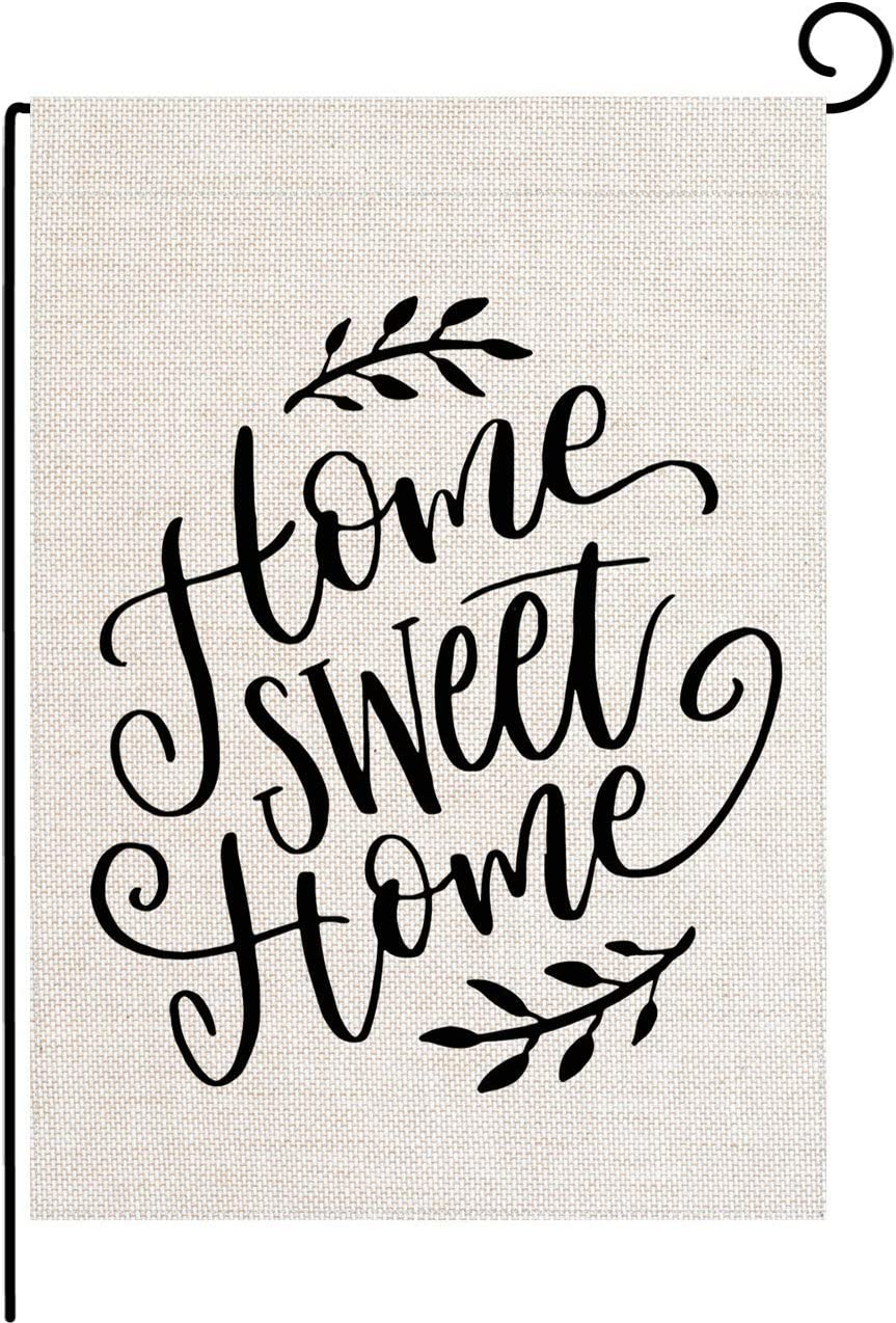pingpi Home Sweet Home Garden Flag Double Sided, Home Decorative Seasonal Outdoor Flag Burlap 12.5 x 18 Inch