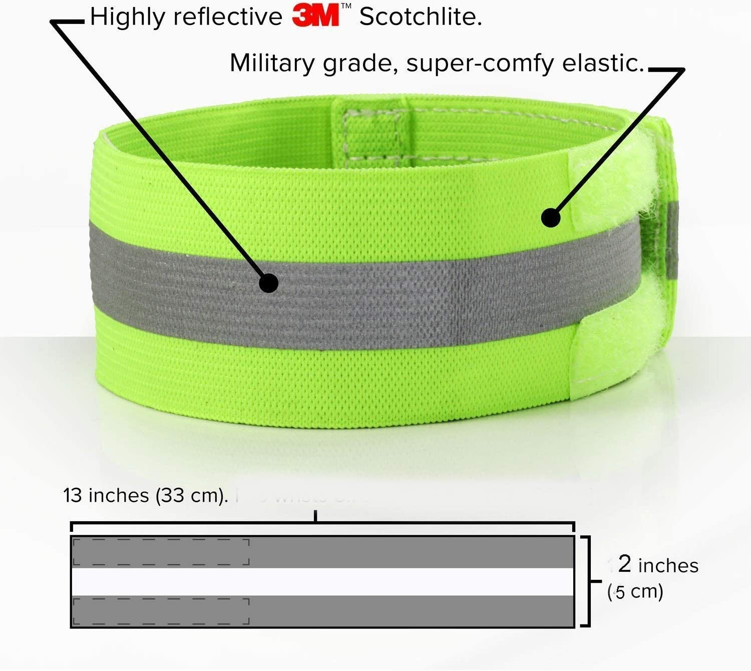 1 Pair Ankle Leg Bind Bike Bicycle Reflective Outdoor Bike Trousers Pant Bands Clips Straps NIVNI Reflective tape