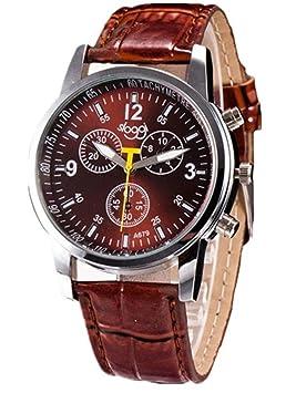 2017 hombre Relojes de pulsera de reloj de moda de moda de lujo de cocodrilo Faux cuero para 68 Movimiento (marrón): Amazon.es: Deportes y aire libre