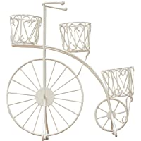GIG Black Medium Tricycle Planter Without pots/Cycle Style Metal Stand Planter/Garden Pot