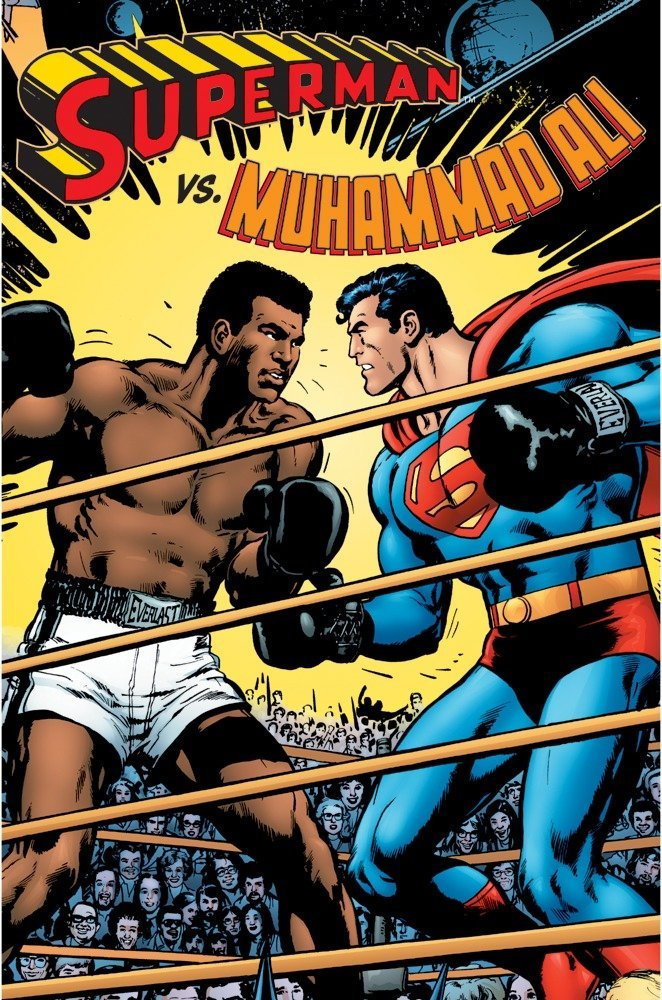 Image result for Superman fights Muhammad Ali