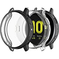JOYAUS (2 Pack) Case for Samsung Galaxy Watch Active 2 44mm, Full Body Screen Protector Case TPU All-Around Slim Soft…