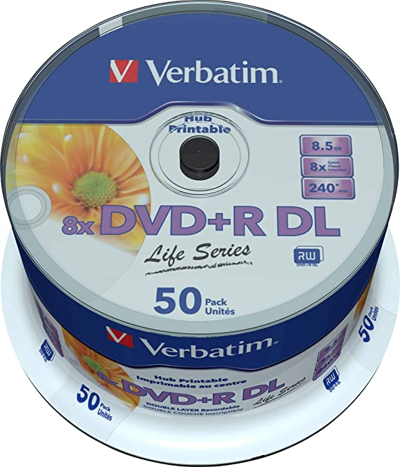 Verbatim DVD Doble Capa DVD+R DL 8.5 GB / 240 min 8x, Full ...