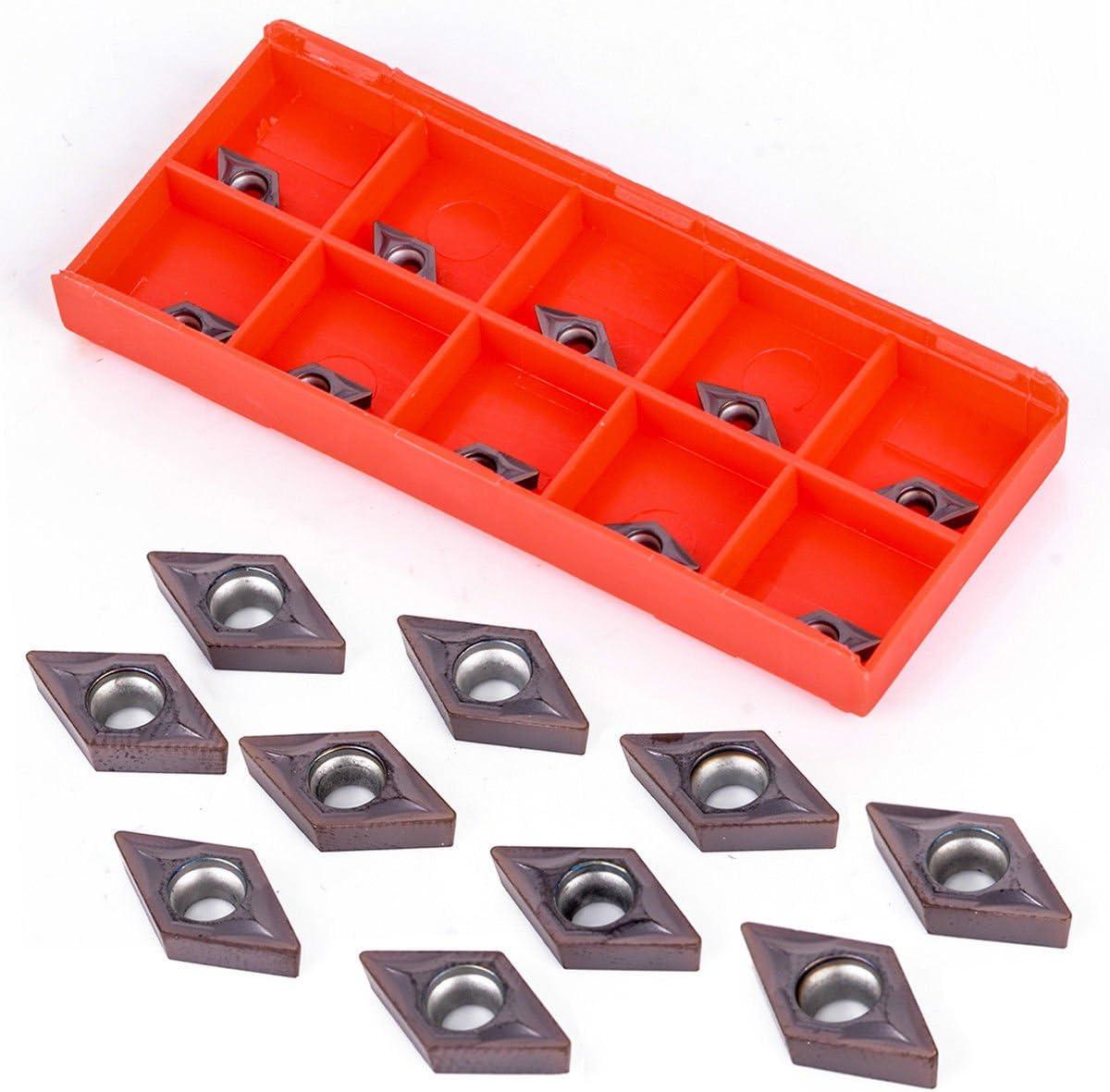 10pcs CNC Hartmetall Einsatzschneider Wendeschneid Drehmaschine Fr/äseins/ätze Drehen Werkzeuge mit Box CCMT09t304 CCMT32.5