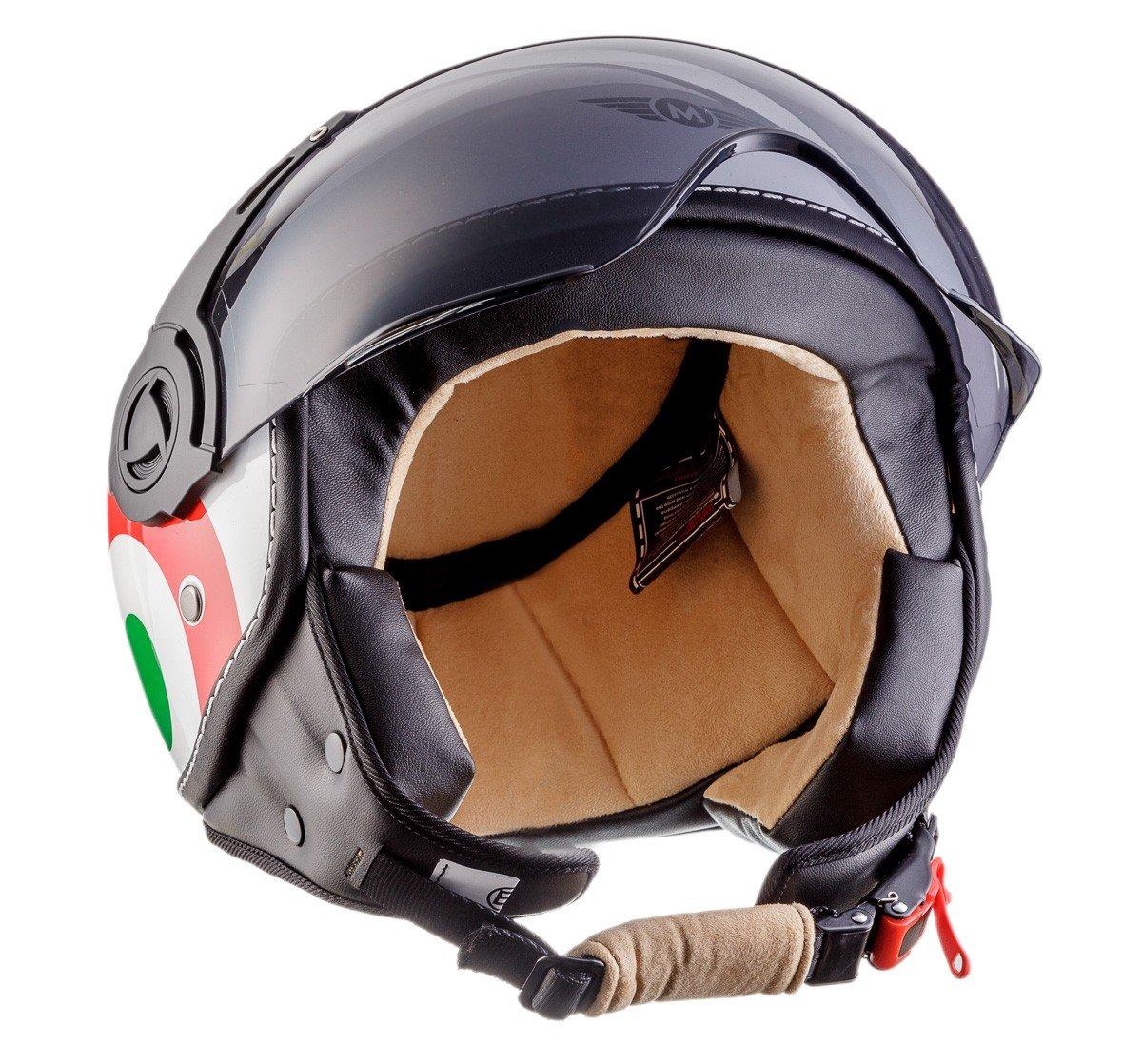Amazon.es: Moto Helmets H44 - Helmet Casco de Moto, Blanco/Italia, L (59-60cm)