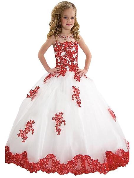 b3c02e15d Meike Dress - Vestido - trapecio - Sin mangas - para niña Blanco ...
