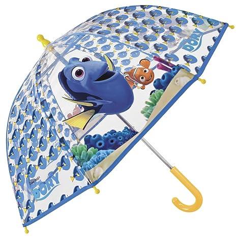 Paraguas Buscando a Dory de Disney - Paraguas para niño/niña, transparente de cúpula
