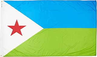 product image for Annin Flagmakers Model 192219 Djibouti Flag Nylon SolarGuard NYL-Glo, 5x8 ft, 100% Made in USA to Official United Nations Design Specifications