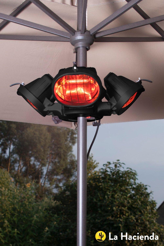 Heatmaster U3R20 2.0KW Popular Umbrella Mount Infrared Heater:  Amazon.co.uk: Garden U0026 Outdoors