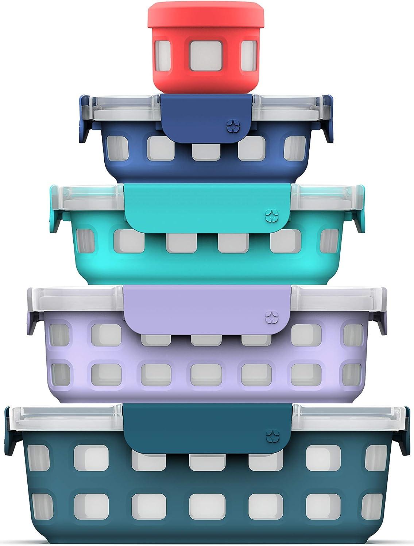 Ello Plastic 10Pc Set Food Storage Container, Multi, Fruit Cobbler