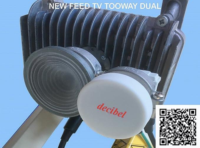 1 opinioni per FEED TV 2 uscite per parabola TOOWAY 13° HOTBIRD SKY EUTELSAT PER TRIA NUOVO