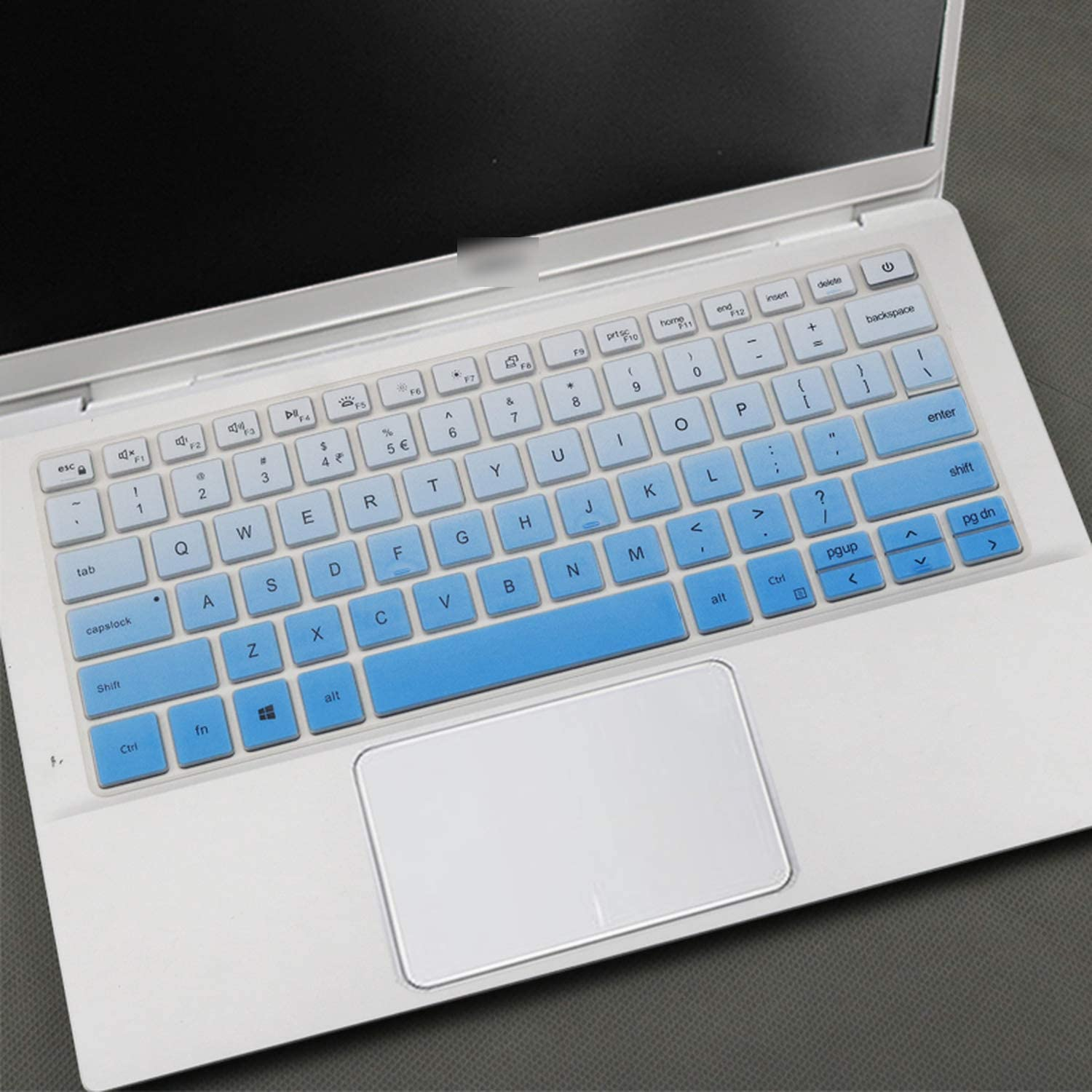 All-Equal for Dell Latitude 3300 3301 for Dell Inspiron 14 5490 7490 7391 5498 5493 5493 5498 Laptop Keyboard Cover-Blue